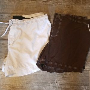 2 pairs of swim shorts